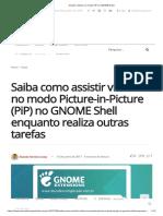 Assistir Vídeos No Modo PiP No GNOME Shell
