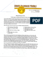 Shoshone-Bannock tribes position paper on Native American mascots