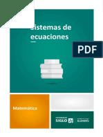 Sistemas de Ecuaciones - Métodos de Resolución