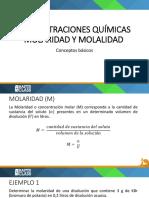 1516044920Concentraciones Químicas (Molaridad y Molalidad) - Conceptos Básicos