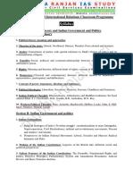 PSIR Optional Syllabus