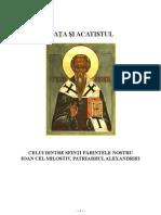 Viata Si Acatistul Sfantului Ioan Cel Milostiv, Patriarhul Alexandriei