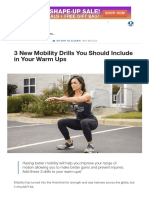3 New Mobility Drills You Should Include in Your Warm Ups