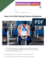 How to Fix Rib Flaring Posture Imbalance