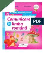 Comunicare În Limba Română. Clasa Pregătitoare.