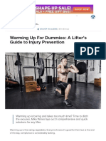 Warming Up for Dummies_ a Lifter's Guide to Injury Prevention