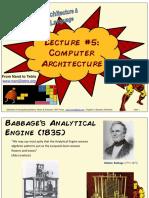 Lecture 05 - Computer Architecture (FULL)