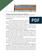 VIII Encontro Internacional de História Antiga e Medieval Do Maranhão - Inscrições Abertas