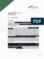 Howard Phillips - Letter of Resignation