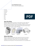 Types of Plumbing Fittings