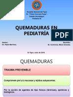 Quemaduras en Pediatría