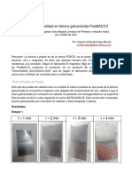 Informe Pruebas Lamina PosMAC 3.0