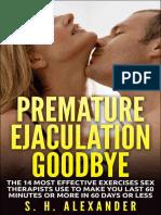 Premature Ejaculation Goodbye