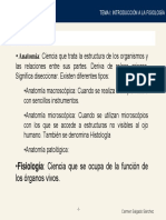 Fisiología I Tema 01 Introducción a La Fisiología
