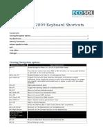 AX 2009 Keyboard Shortcuts