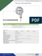 Datasheet Temperature Dial Thermometers Z7612 Z8612 Z7672 Z8672