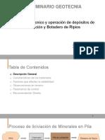 CVergara Diseno Geotecnico y Operacion de Depositos de Lixiviacion y Botadero de Ripios 2019