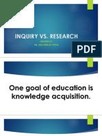 Inquiry vs Research