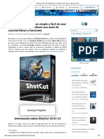 ShotCut 19.07.15 Full 2019, Es Un Simple y Fácil de Usar Editor de Vídeo