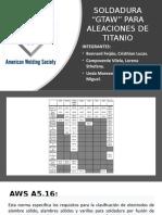 P1-C.bonnard-L.campoverde-A.undaSoldadura GTAW Para Aleaciones de Titanio