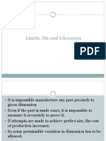 Limits, Fits and Tolerances