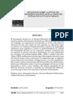 Desempeño Docente Eduacion Bolivariana