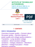 Unit-1, Electrical Power Quality 4-1, June 2019