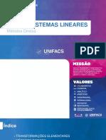 Aula 04 - Sistemas Lineares (Métodos Diretos)