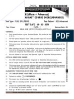 Paper 2 21st May 2019 JEE Advanced 2019