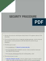 Security procedure in LTE