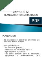 Capitulo IV Planeamiento Estrategico