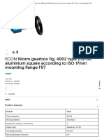 ECON Worm Gearbox Fig. 4002 Type 232-06 Aluminium Square According to ISO 17mm Mounting Flange F07