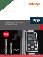 Mitutoyo - wysokościomierze elektroniczne QM-Height Seria - E12027(3) - 2019 EN