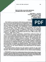 Evaluation of Job Analysis Methods by Job Analysts