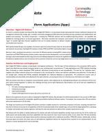 CTRM Briefing Note – EKA – Digital CM Platform Applications (Apps)
