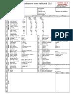 Control Valve Data Sheet