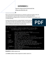 EXPERIMENT Computer Network