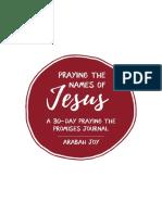 Name of Jesus 30 Day Prayer Journal FINAL