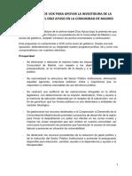 Propuesta de Vox para apoyar la investidura de Isabel Díaz Ayuso