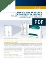 Pcbc Block Cave Schedule Geovia Datasheet