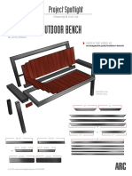 Outdoor Bench Cut Sheet Arcmag