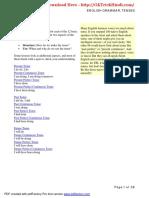 English Grammar Tenses PDF (English) ( for More Book - Www.gktrickhindi.com )