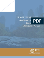 Urban Universities - Anchors Generatng Prosperity for America's Cities