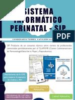 Sistema Informático Perinatal - Sip