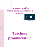 Best Ways of Teaching Pronunciation, Grammar And