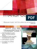 Transposition a guide