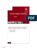 Catalysis and Physical Organic Chemistry