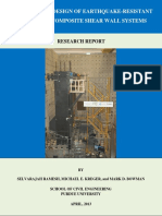 Pankow Report 1- Purdue University - Dual Plate Composite Shear Wall