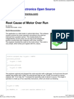 Root Cause of Motor Over Run