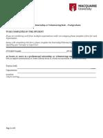 Internship or Volunteering Form